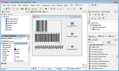1D Barcode VCL Components