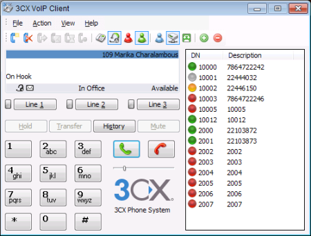 3CX FREE VOIP Phone for Windows