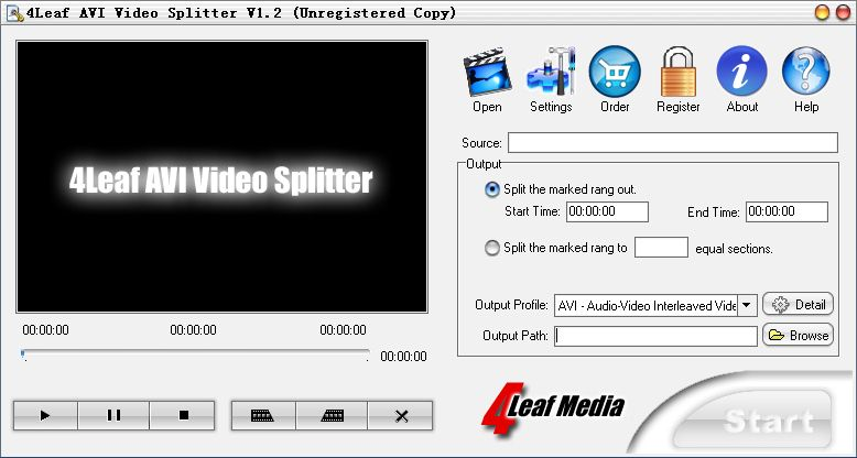 4Leaf AVI Video Splitter