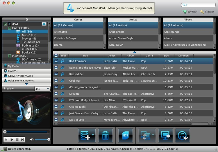 4Videosoft Mac iPad 3 Manager Platinum
