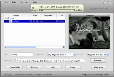 Lenogo DVD to iPod Converter + Video to