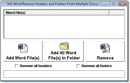 MS Word Remove Headers and Footers From Multiple Documents Software
