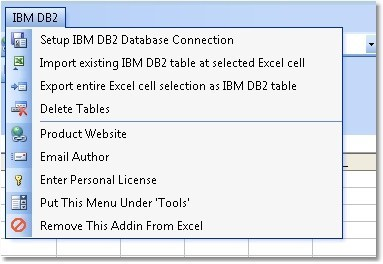 Excel IBM DB2 Import, Export & Convert Software