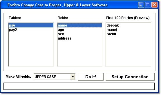 FoxPro Change Case to Proper, Upper & Lower Software