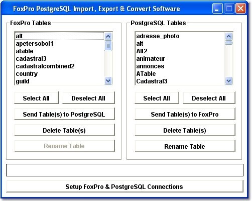 FoxPro PostgreSQL Import, Export & Convert Software