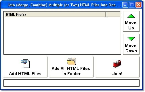 Join (Merge, Combine) Multiple (or Two) HTML Files Into One Software