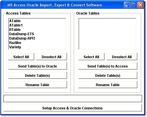 MS Access Oracle Import, Export & Convert Software