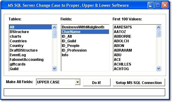 MS SQL Server Change Case to Proper, Upper & Lower Software
