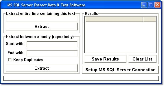 MS SQL Server Extract Data & Text Software