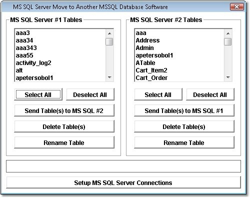 MS SQL Server Move to Another MSSQL Database Software