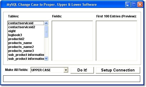 MySQL Change Case to Proper, Upper & Lower Software