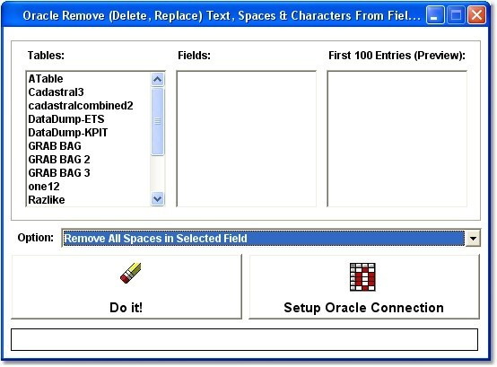 Oracle Remove (Delete, Replace) Text, Spaces & Characters From Fields Software