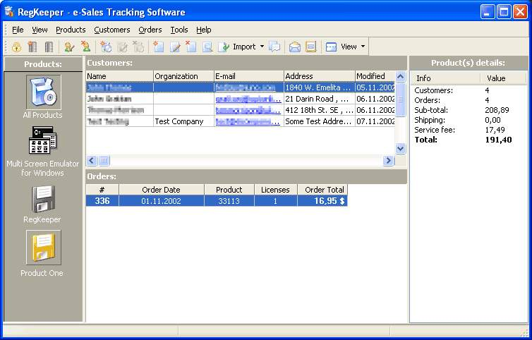 RegKeeper- e-Sales Tracking Software