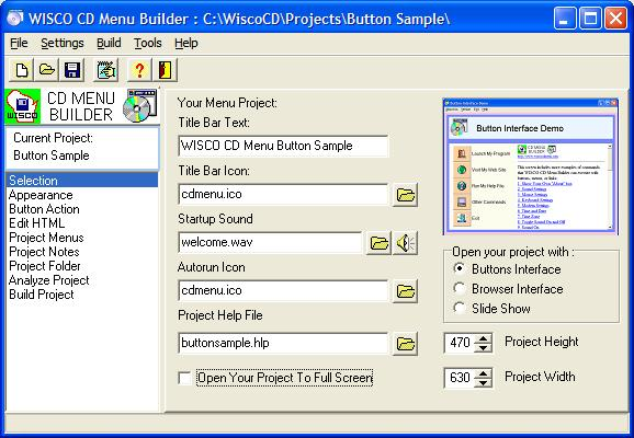 CD Menu Builder