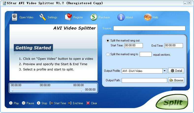 AVI Video Splitter