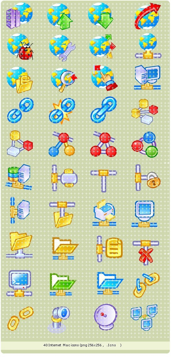 Network Mac icons
