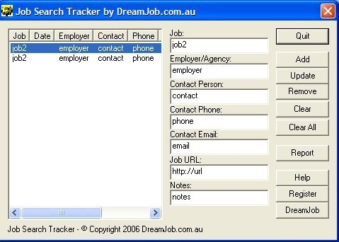 DreamJob.com.au Job Search Tracker