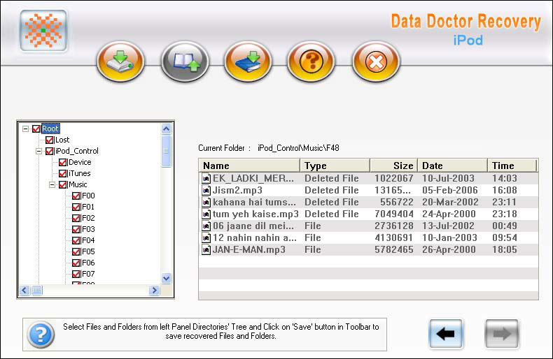 iPod Disk Data File Recovery