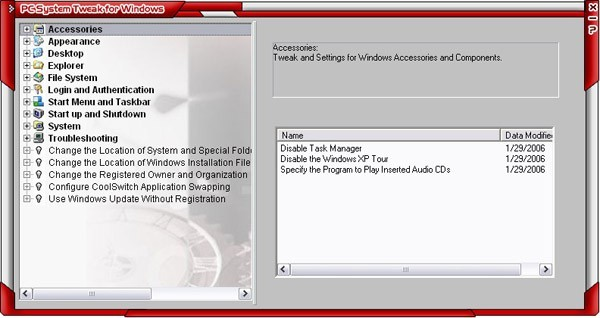 PC System Tweak for Windows