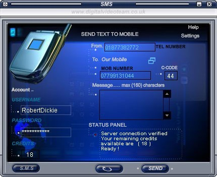 SMS PC text to Mobile