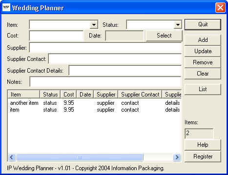 IP Wedding Planner