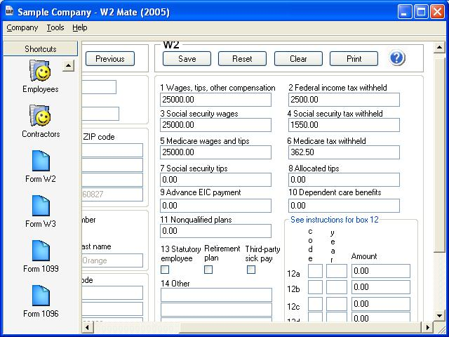 W2 Mate-W2 1099 Software