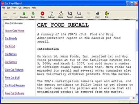 Cat Food Recall  Purina