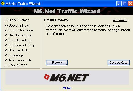 M6.Net Traffic Wizard