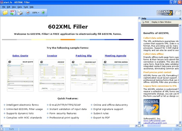 602XML Form Filler