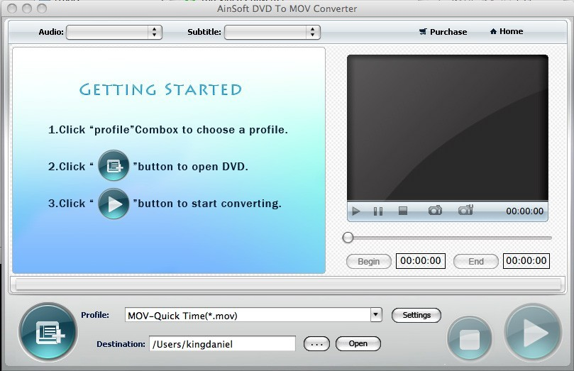 Ainsoft DVD to MOV Converter for Mac