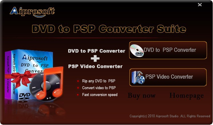 Aiprosoft DVD to PSP Converter Suite