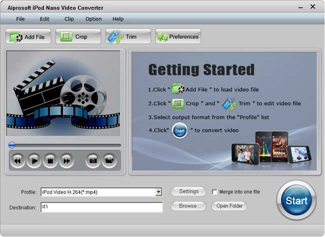 Aiprosoft iPod Nano Video Converter