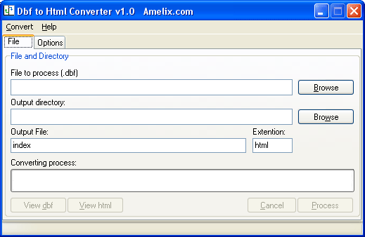 Amelix DBF to Html Converter