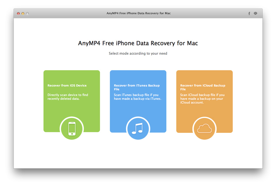 AnyMP4 Free iPhone Data Recovery for Mac