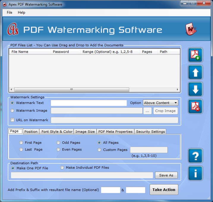 Apex Watermark on PDF File