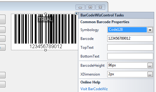 BarCodeWiz Barcode Control for Windows Forms