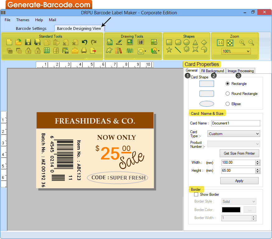 Corporate Barcode Software