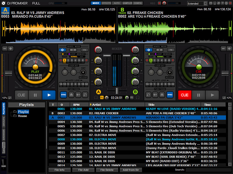 DJ ProMixer Free Home Edition