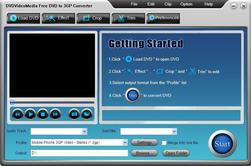 DVDVideoMedia Free DVD to 3GP Converter