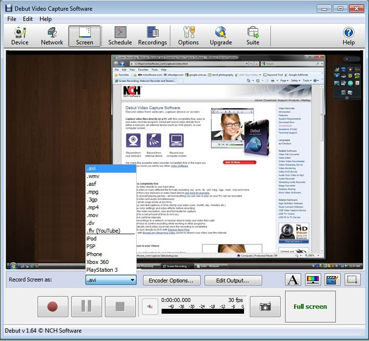 Debut Free Video Capture Software