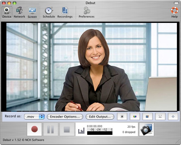 Debut Pro Mac Video Recording Software