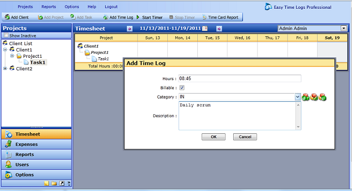 Easy Time Logs Live