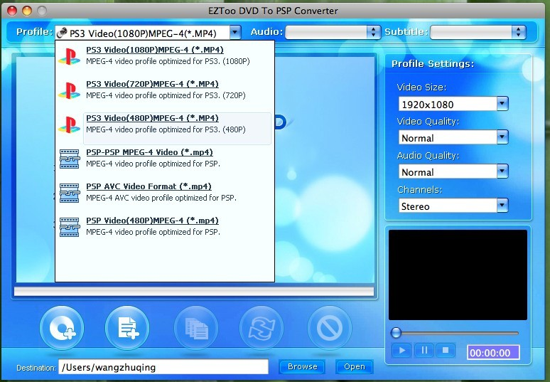 Eztoo DVD To PSP Converter for MAC