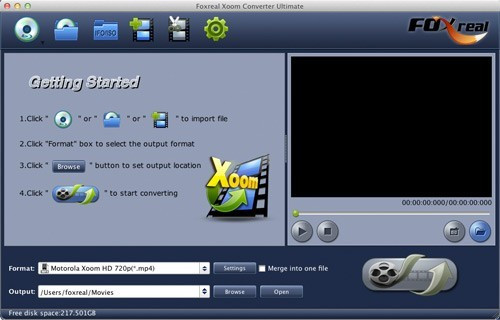 Foxreal Xoom Converter Ultimate for Mac