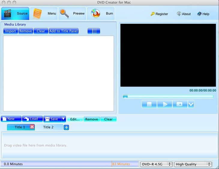 FreeMac DVD Creator