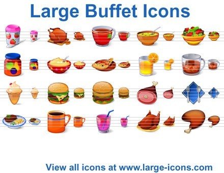 Free Buffet Icons Creator