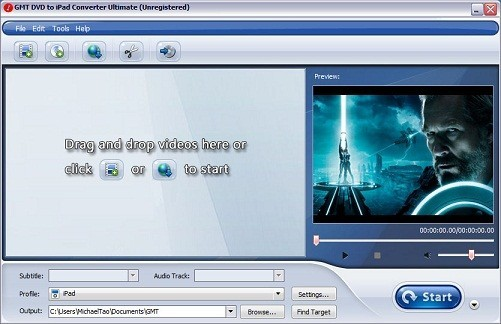 Free GMT MPEG to DVD Converter