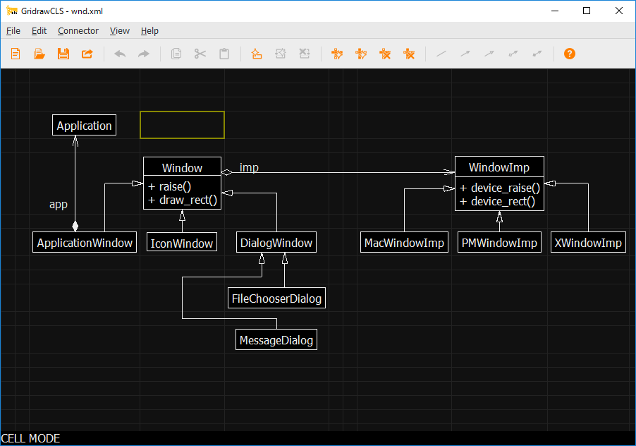 Gridraw for Class diagram