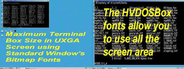 HVDOSBox-Windows Terminal Fonts