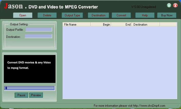 Jason DVD Video to MPEG Converter